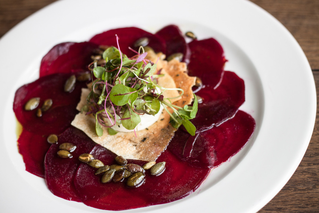 TMH Autumn Dining Menu Beetroot Carpaccio