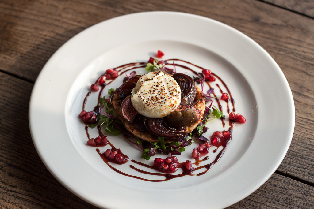 TMH Goats Cheese & Fig Tart