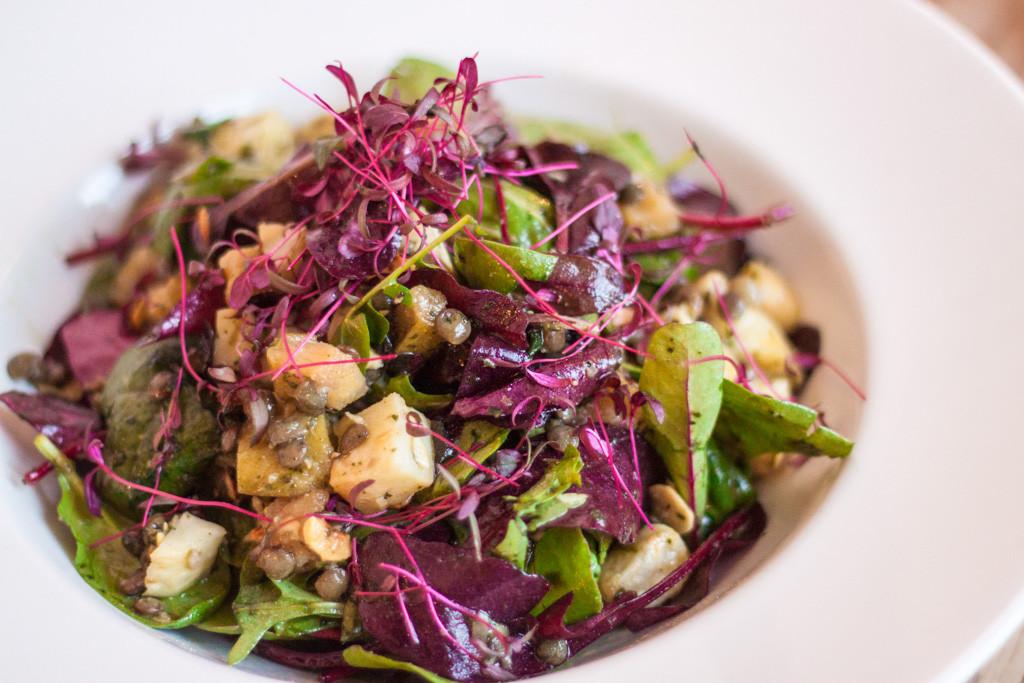 TMH Puy Lentil, Celeriac, Hazelnut, Apple & Mint Salad