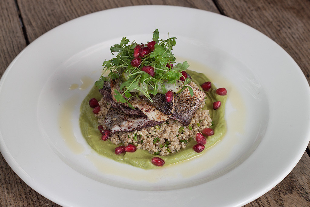 TMH Sumac-crusted Sea Bass